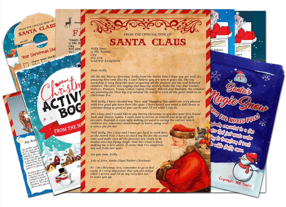 Letter & Christmas Activity Book & Magic Snow