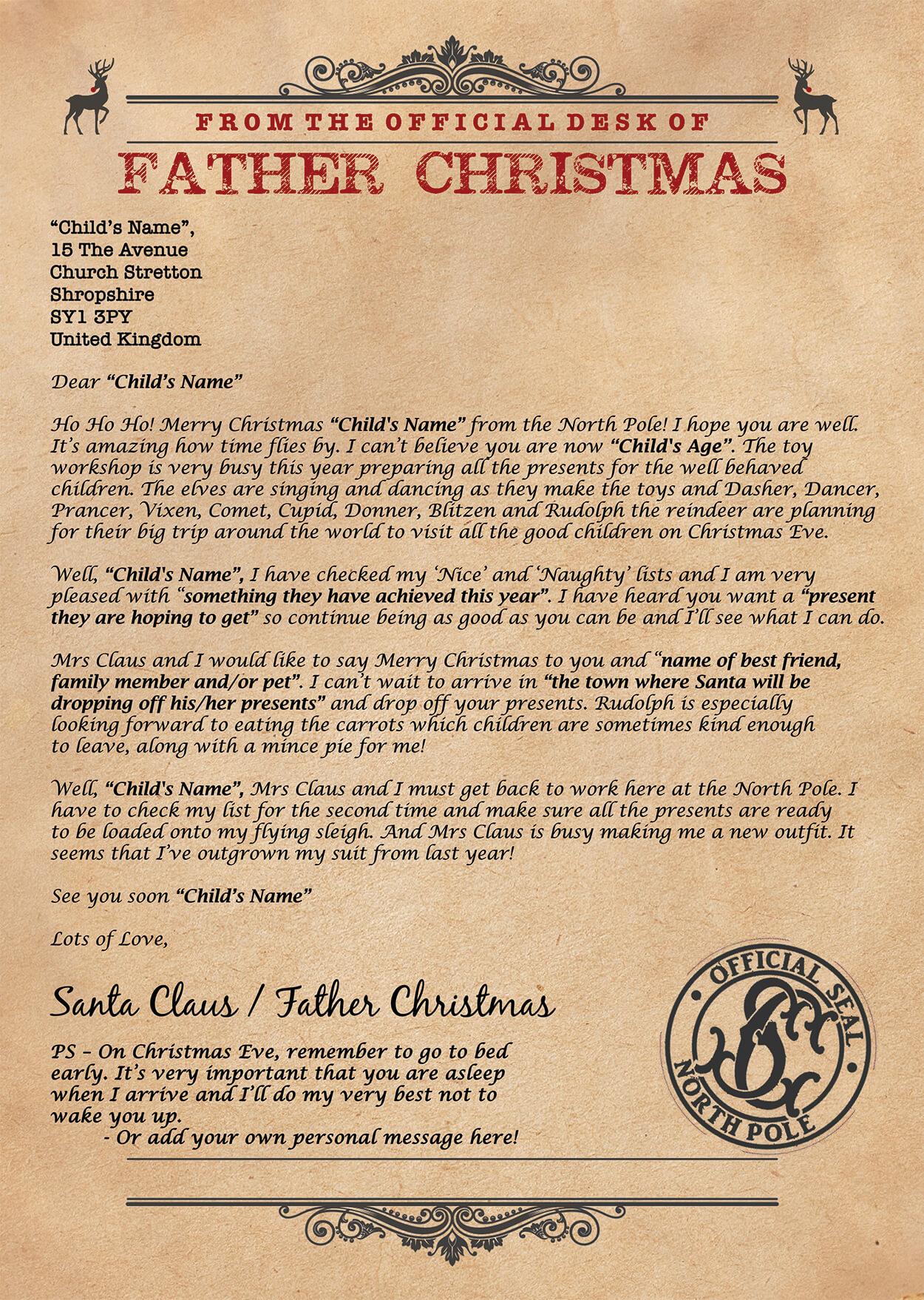 Santa Letter Design 4 Sample